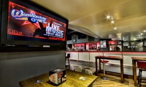 Wombourne Pool Bar's Plasma Screen TV and Bar