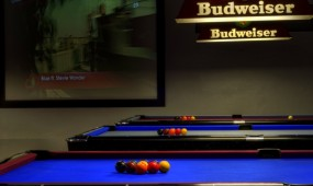 3 American style pool tables.